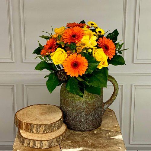Blumenstrauß gelb orange online bestellen