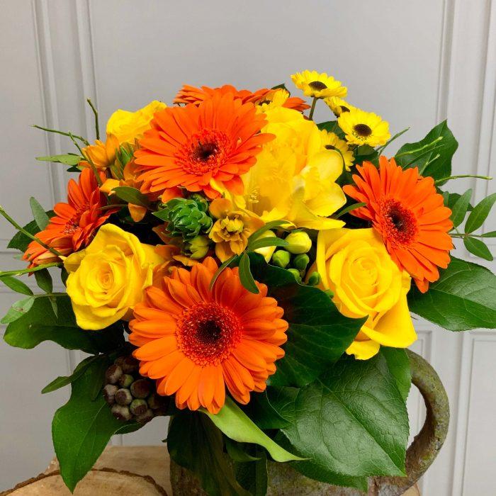 Blumen als Strauß gelb orange