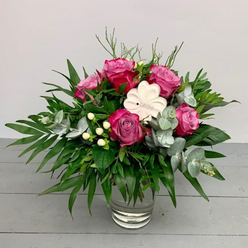 Tiziano Glücksklee Keramik Blumenstrauß