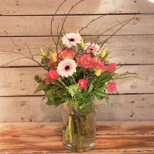 Frühlingsstrauß rosa mit Tulpen