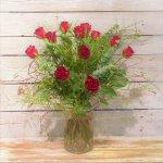 Ein Dutzend rote Rosen