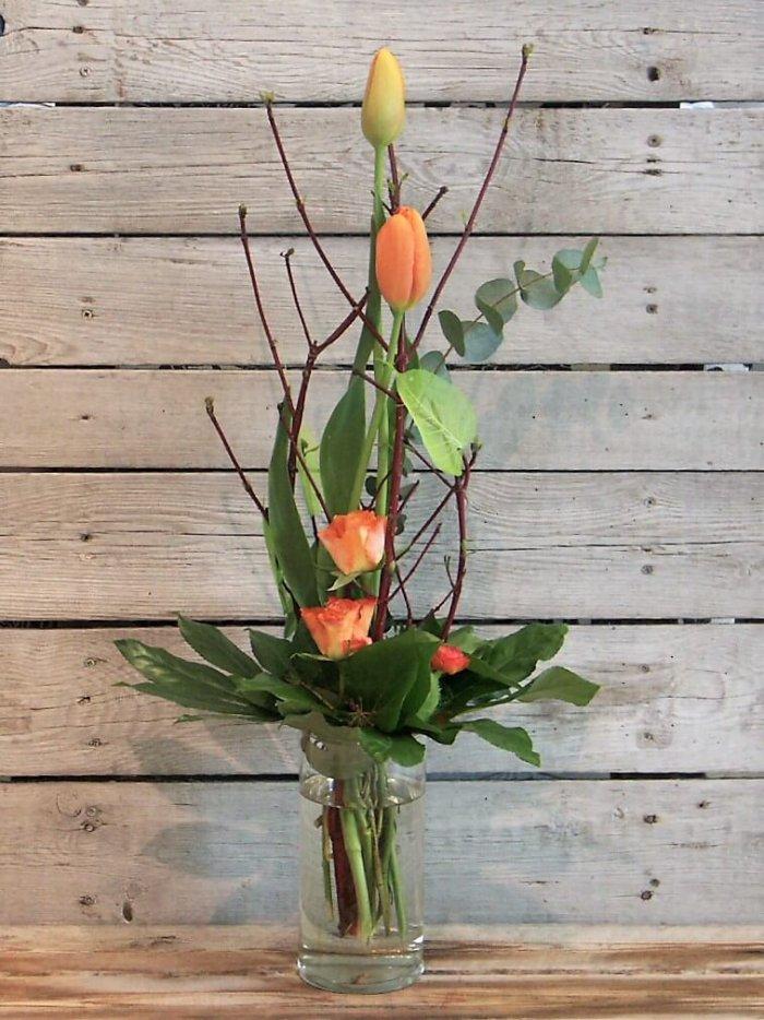 Strauß mit besonderen französischen Tulpen