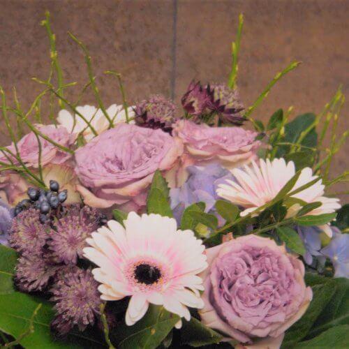 Strauß mit englischen Rosen in pink