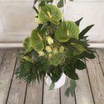 Sträuße mit grünen Anthurien exotisch