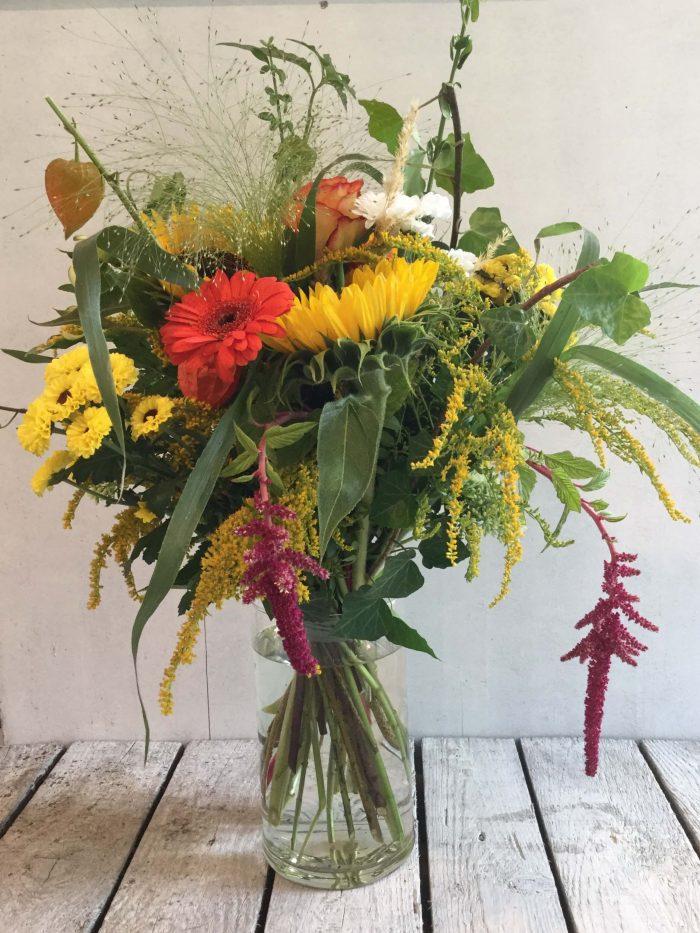 Strauß Sommergarten mit Sonnenblumen