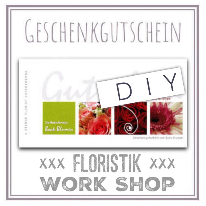 Gutscheinkarte Floristik Work Shop