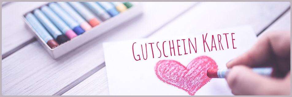 Banner Geschenk Gutschein Karten