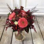 Strauß mit Rosen und Gerbera in pink