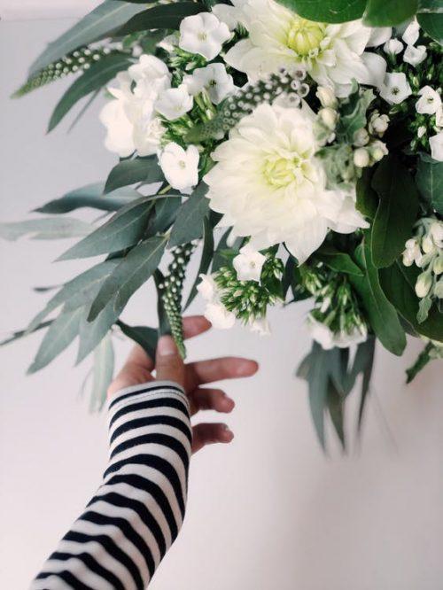 Chrysanthemen weiß mit Eucalithus