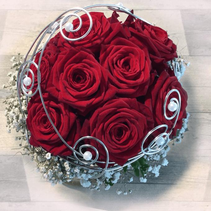 Rote Rosen Blumenstrauß