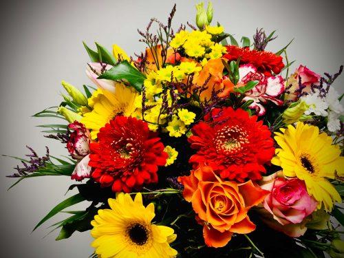 Blumen in rot, gelb, orange