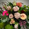 vintage Blumenstrauß mit Eucalipthus