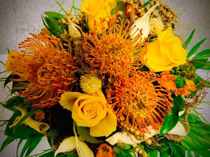 Nadelkissen Proteen Blumen zum eintrocken