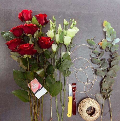 rote Rosen für den Hochzeitstag im Abo als Blumenstrauß